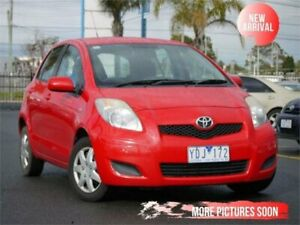 2011 Toyota Yaris NCP130R YR Red 4 Speed Automatic Hatchback Cheltenham Kingston Area Preview