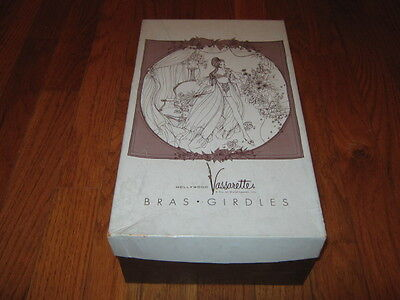 c042303230 Vintage Hollywood Vasserettes Bras Girdles Brown and Blue Empty Box