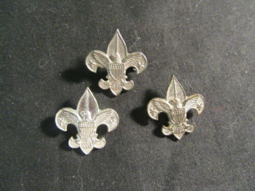 Tenderfoot Silver Patrol Leader Campaign Hat Pins, Lot of 3      TH2