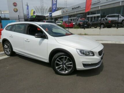 2016 Volvo V60 Cross Country F Series MY16 D4 Geartronic AWD Luxury Crystal White Pearl 6 Speed Wickham Newcastle Area Preview