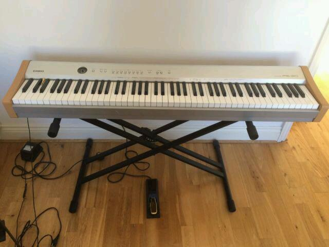casio ps 20 piano keyboard 88 weighted keys in excellent working condition in hammersmith. Black Bedroom Furniture Sets. Home Design Ideas
