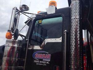 Highway truck window tinting