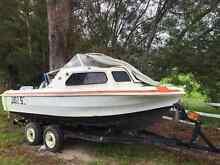 4.7m half cabin fiberglass boat Southport Gold Coast City Preview