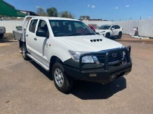 2013 Toyota Hilux KUN26R MY12 SR (4x4) White 5 Speed Manual Dual Cab Pick-up Berrimah Darwin City Preview