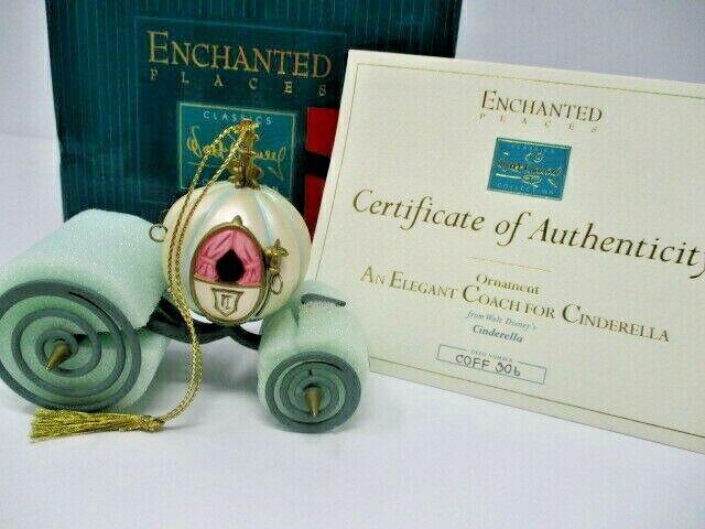 "WDCC Enchanted Places Ornament, ""An Elegant Coach for Cinderella"" w/COA & Box"