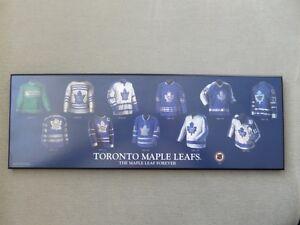 Toronto Maple Leafs Jersey History Wooden Plaque Cambridge Kitchener Area image 1