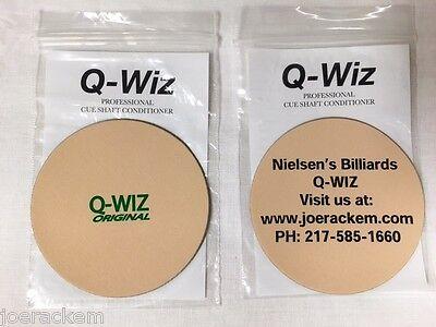 Q Wiz Shaft Conditioner   Polisher   2 Logo Choices  Nielsens Billiard Or Q Wiz