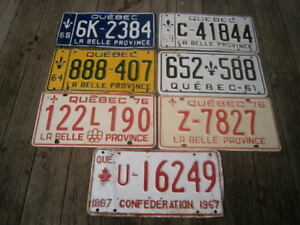 VINTAGE QUEBEC,LISCENSE PLATE LOT