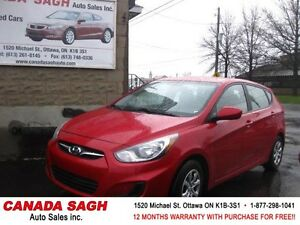 2013 Hyundai Accent AUTO, ALL POWER, 12M.WRTY+SAFETY $8990
