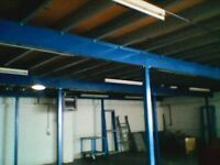 MEZZANINE FLOOR 36ft X 52ft TOP CONDITION COMPLETE SYSTEM STAIRS RAILS BOARDS ETC BARGAIN @ £3850