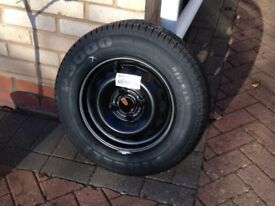 Unused wheel and tyre, 155/80/R13/ 79T from a Vauxhall Corsa