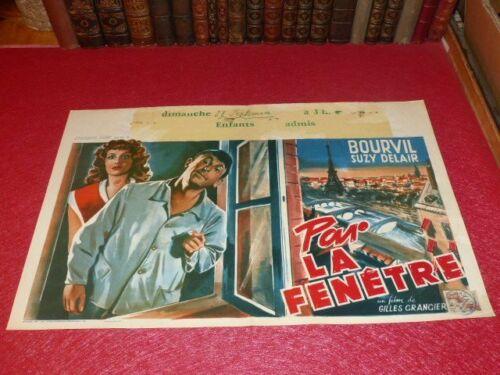 Cinema Poster Original Belgian Par The Window Bourvil Suzy Delair 1948 Grangier