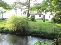 Amazing large 1 Bed Flat with waterwheel in converted Mill: Dunsford, 6 miles West of Exeter