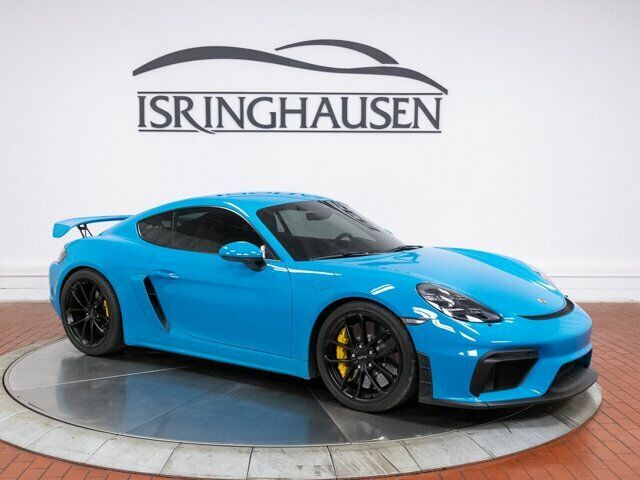 2020 Porsche 718 Cayman GT4 5761 Miles Miami Blue 2 Door Coupe Premium Unleaded