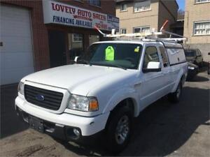 2008 Ford Ranger XLT, MATCHING CAP ,LADDER RACK