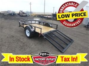 -> Unbeatable Low Price! <- 5 x 8 Single Axle Utility Trailer
