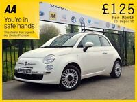FIAT 500 0.9 LOUNGE 3d 85 BHP SUNROOF GREAT CONDITION, FINA (white) 2014