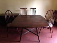 Drop Leaf Ercol Table and Chairs