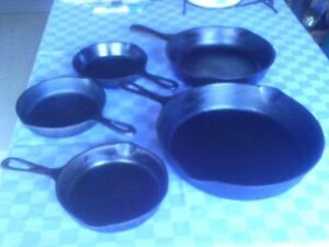 Vintage Cast Iron Pans and Skillets $15 Up