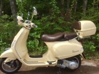 2012 Piaggio Vespa LXV 125ie, Sienna Ivory, Excellent condition, ONLY 1360 miles. MOT June 2019.