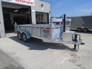 HOT DIPPED GALVANIZED 16' DUMP TRAILER BY N&N  CANADIAN MADE - London Ontario image 2