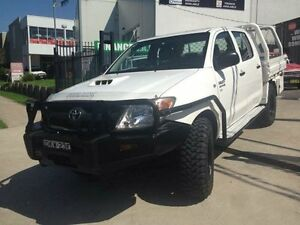 2008 Toyota Hilux KUN26R 08 Upgrade SR (4x4) White 5 Speed Manual Dual C/Chas St Marys Penrith Area Preview