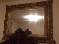 Beautiful ornate framed mirror
