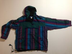 Vintage YAKS Knitted Pull Over With Hood