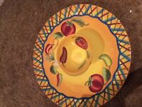 Brand new large Salsa plate and bowl