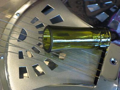 Traditional Handmade Glass Bottleneck Guitar Slide - Resonator Dobro Lap Steel Dobro Slide Guitar
