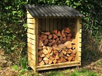 Log stores, Wood sheds, High Quality, Hand Made, FSC Timber, Sturdy, Glasgow (Free local delivery)