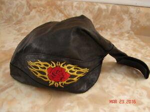 Leather Skull Hat