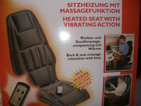 Heated seat with vibrating action