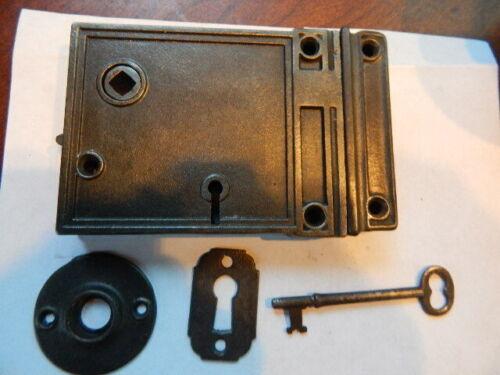 Antique Door Rim Lock Complete Reversible (RL 32)