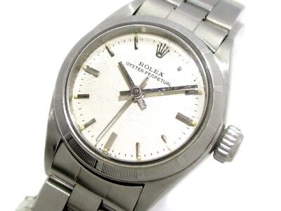 Auth ROLEX Oyster Perpetual 6723 Silver Women