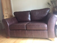 Marks and Spencer Abbey large 2 seat sofa, dark brown leather