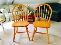 2 wooden chairs-- EXCELLENT CONDITION