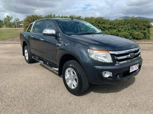 2014 Ford Ranger PX XLT Double Cab Grey 6 Speed Manual Utility Garbutt Townsville City Preview