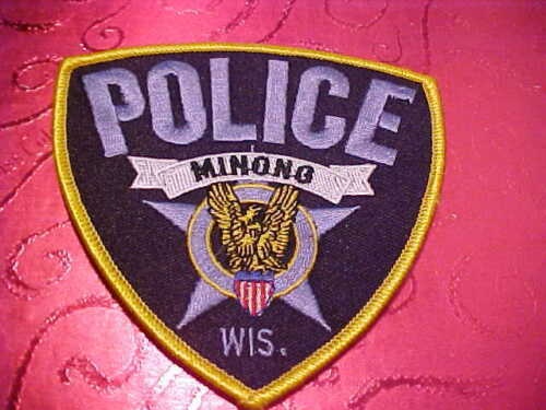 MINONG WISCONSIN POLICE PATCH SHOULDER SIZE UNUSED TYPE 2