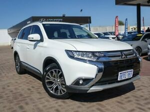 2015 Mitsubishi Outlander ZK MY16 XLS 4WD White 6 Speed Constant Variable Wagon Morley Bayswater Area Preview