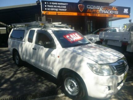 2012 Toyota Hilux GGN15R MY12 SR Xtra Cab 4x2 White 5 Speed Automatic Utility Merrylands Parramatta Area Preview