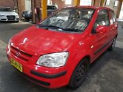 2005 Hyundai Getz TB GL Red 5 Speed Manual Hatchback Georgetown Newcastle Area Preview