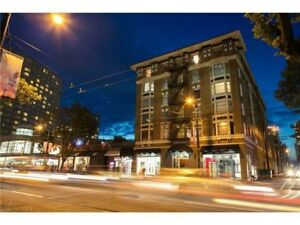 One BR furnished penthouse apartment corner Robson and Burrard