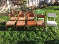 Vintage/retro school chairs