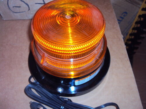 FEDERAL SIGNAL 211682-02 Indicating Beacon, Magnetic Mount,Amber