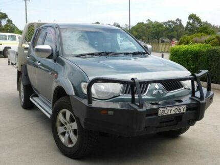 2009 Mitsubishi Triton ML MY09 GLX-R Double Cab Green 4 Speed Automatic Utility