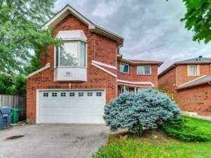 4 Bed / 3 Bath Fully Detached Home Over 2800 Sqft