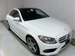 2015 MERCEDES BENZ C300 4MATIC SPORT PACKAGE NAVI PANO ROOF