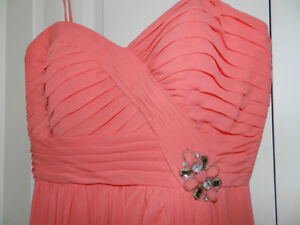 Robe de bal,de demoiselle d'honneur,de soirée,couleur coral
