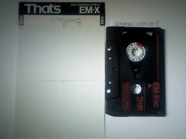 THAT/'S  CD II F  SUONO FORMAT  90  BLANK  TAPE USED 1 USED TAPES!